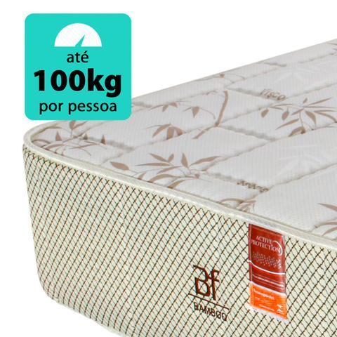 Imagem de Cama Box Solteirão (Box + Colchão) Molas Ensacadas Courvin Preto BF Colchões 97x203x62cm