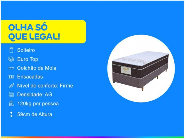 Imagem de Cama Box Solteiro (Box + Colchão) Gazin