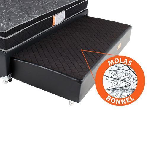 Imagem de Cama Box Solteiro (Box + Colchão) Molas Ensacadas Com Pillow Auxiliar Bicama BF Colchões 88x188x59cm