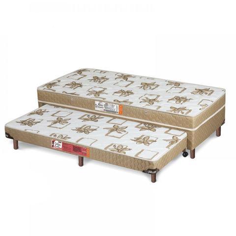 Imagem de Cama Box Solteiro Conjugado 41cmx88cmx188cm com Auxiliar Aspen Ortopédico Hellen Caqui