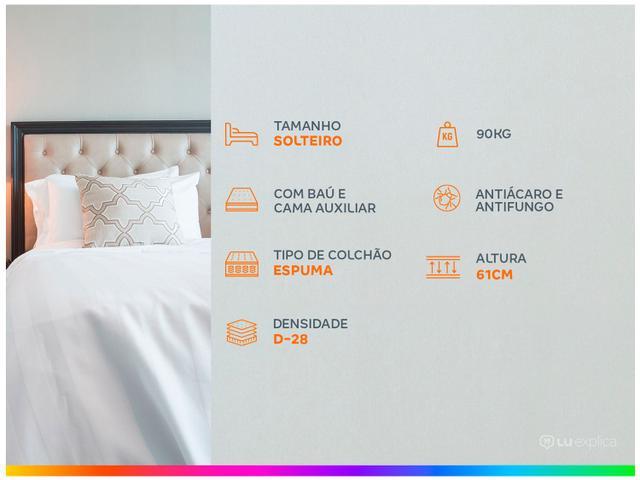 Imagem de Cama Box Solteiro LightSpuma com Baú