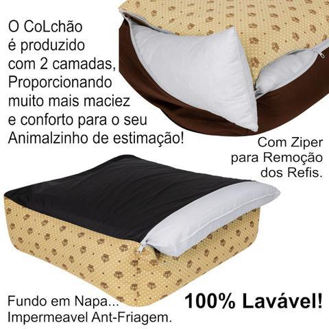 Imagem de Cama Caminha Pet Cachorro Gato Kit 04 Peças Lavável Tamanho M