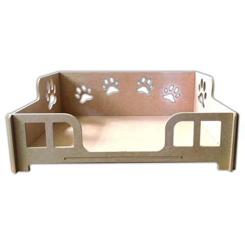 Imagem de Cama Caminha Sofá Casa Para Pet, Cachorro, Gato, Em Mdf Crú G