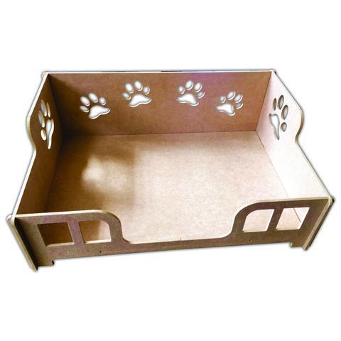 Imagem de Cama Caminha Sofá Casa Para Pet, Cachorro, Gato, Em Mdf Crú M
