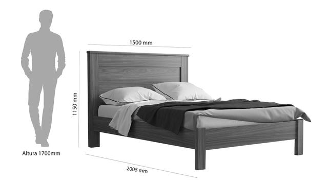 Imagem de Cama de Madeira Temecula Casal Branco 138 Com Colchão Sankofort D45 138x20