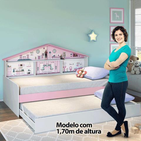 Imagem de Cama Infantil Com Cama Auxiliar Casa de Boneca Pura Magia