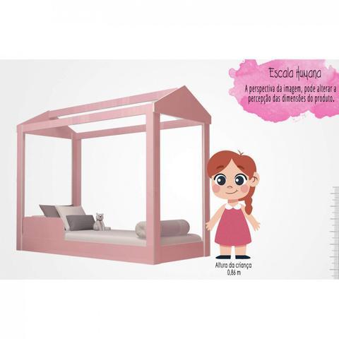 Imagem de Cama Infantil Montessoriana Crystal Baby J&A Móveis Rosa