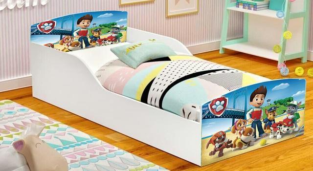 Imagem de cama infantil montessoriana sono patrulha canina