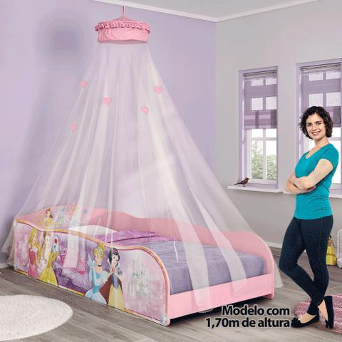 Imagem de Cama Infantil Princesas Disney Plus Dossel Teto Pura Magia