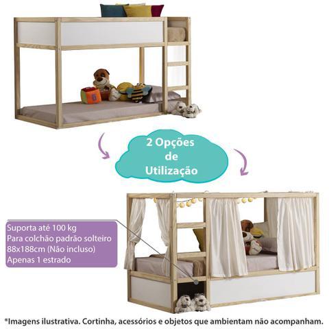 Imagem de Cama Infantil Versa com Tenda Circulos Natural - Casatema
