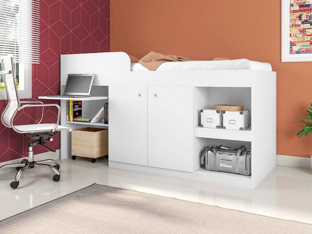 Imagem de Cama Multifuncional Juvenille Branco - Art In Móveis