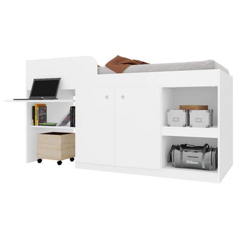 Imagem de Cama Multifuncional Juvenille Quarto Art in Móveis Branco