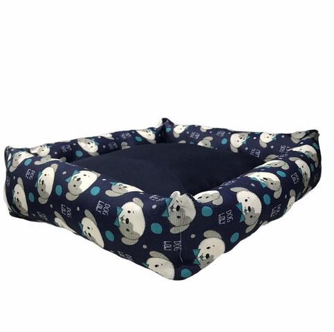 Imagem de Cama Pet Para Cachorro 60 X 60 Raça Grande Dog Azul Flobelle