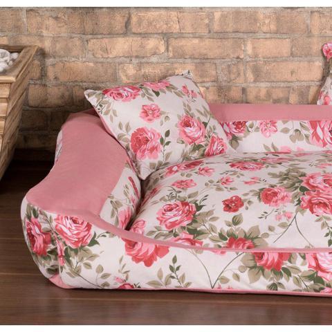 Imagem de Cama Pet Pequena Deccoralle - Floral Rosê