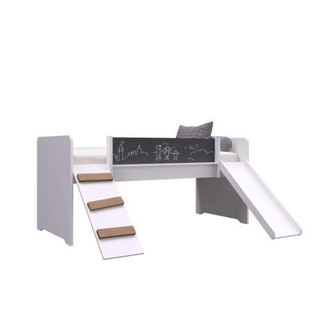 Imagem de Cama Playground com Escorregador e Rampa Completa Móveis Branco