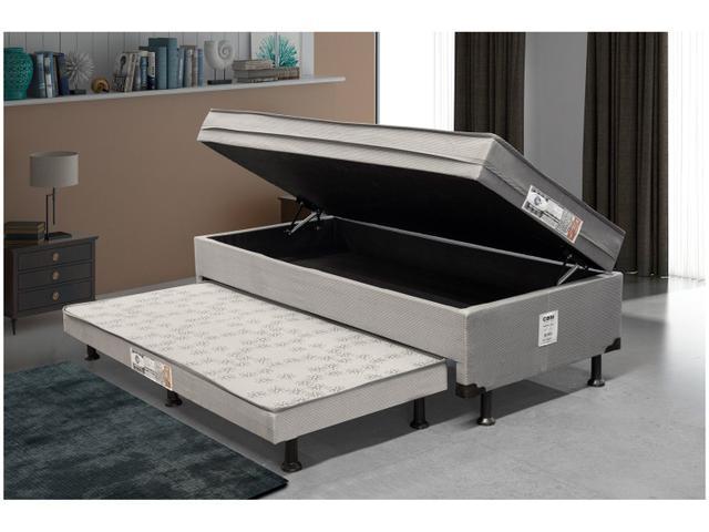 Imagem de Cama Solteiro Box com Baú e Cama Auxiliar