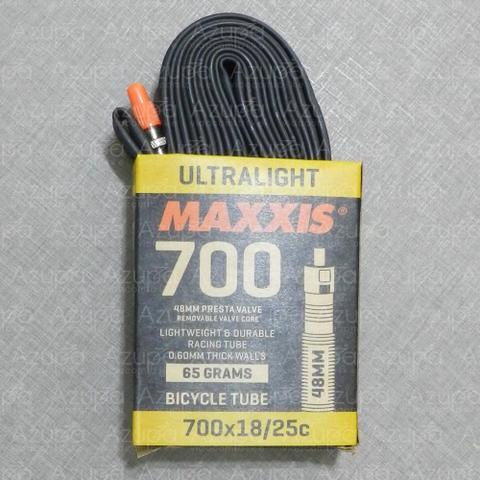 Imagem de Câmara Maxxis Ultralight 700x18/25C Válvula Presta 48mm Preto