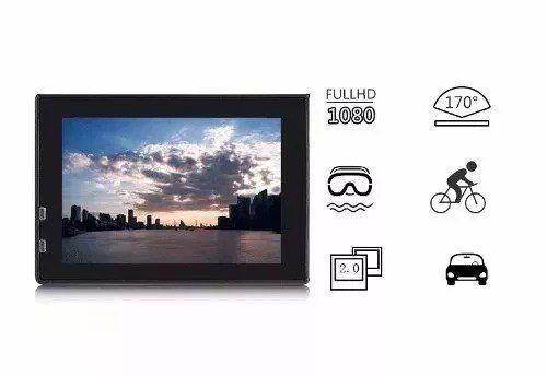 Imagem de Camera Action Esporte 1080p Full Hd Moto Vlog Capacete Mergulho Trilha