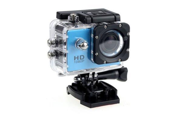 Câmera Digital Sportscam Action Camcorder Azul 5.0mp
