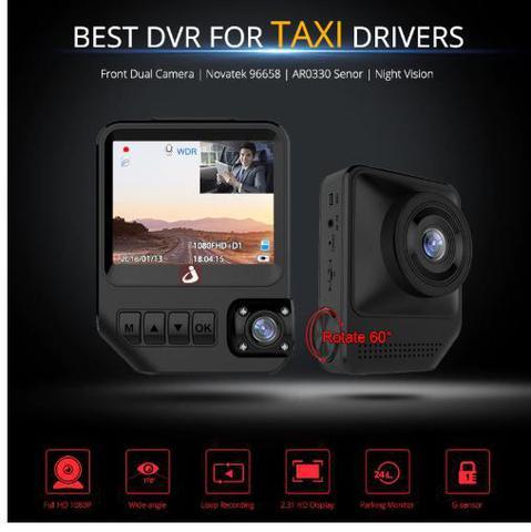 Imagem de Câmera Automotiva Lente Dupla Dvr Visão Noturna 1080p Fhd
