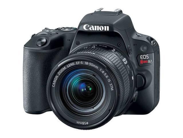 Câmera Digital Canon Eos Rebel Preto 24.2mp - Sl2   18-55mm