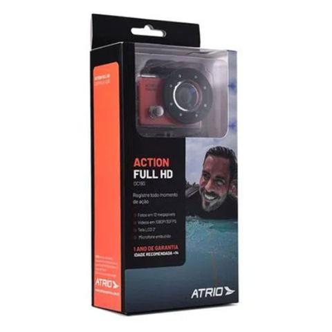 Imagem de Camera de Ação Action Full Hd 1080p Tela Lcd 2 Pol 12mp 30 Fps 450 Mah Dc190