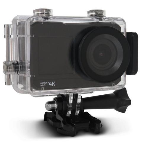 """Imagem de Câmera de Ação Atrio Action 4K DC191 Tela LCD 2"""" Esportiva Wi-Fi USB MicroSD À Prova d'Água"""