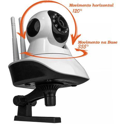 Imagem de Câmera de Segurança Residencial IP Wi-Fi 720p Branco Infravermelho Visão Noturna App Android e iOS