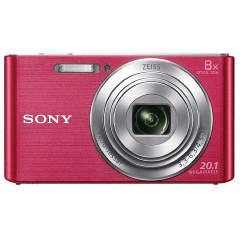 Câmera Digital Sony Rosa 20.1mp - Dsc-w830
