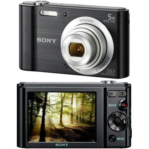 Imagem de Câmera Digital / Sony / DSC-W800 / 20.1MP / Tela LCD de 2,7/ Zoom óptico de 5X - Preta