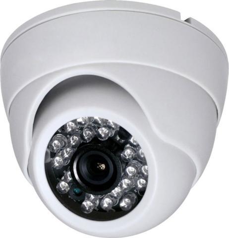 Imagem de Camera Dome Infra Vermelho 24 Leds HD Kit 2 Uni