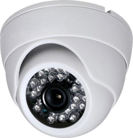 Imagem de Camera Dome Infra Vermelho 24 Leds HD Kit 4 Uni c/ acessórios