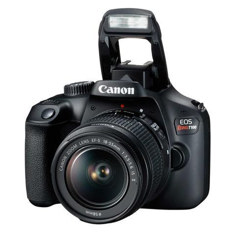 Imagem de Câmera DSLR Canon EOS Rebel T100 com lente 18-55mm III