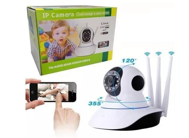 Imagem de Câmera Ip 3 antenas 720p HD Wireless Wifi