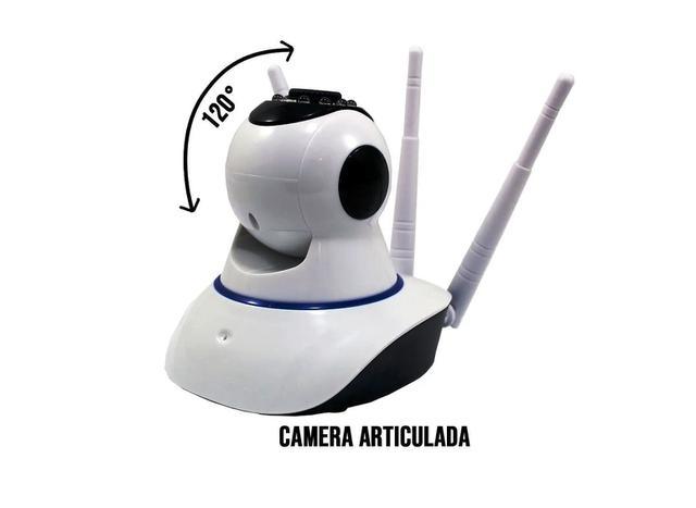 Imagem de Câmera Ip 3 Antenas Wifi Wireless 3ª Geração Visão Noturna
