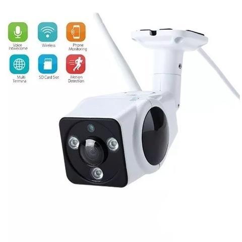 Imagem de Câmera Ip Externa Visão Noturna 360º Wifi Hd 960p App V380