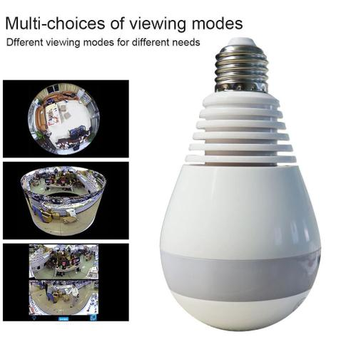 Imagem de Camera Ip Panoramica Seguraça Lampada Vr 360 Espia Wifi