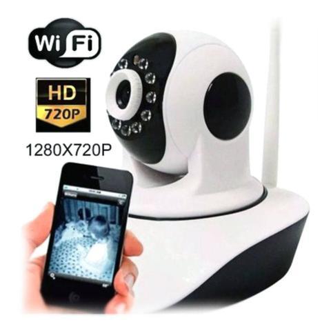 Imagem de Camera Ip Sem Fio Visao Noturna Controle Via Internet Audio baba eletronica
