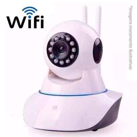 Imagem de Câmera Ip Sem Fio Wifi Hd 720p Robo Wireless, Com Áudio, Grava Em Cartão Sd, Com 2 Antenas E Visão N