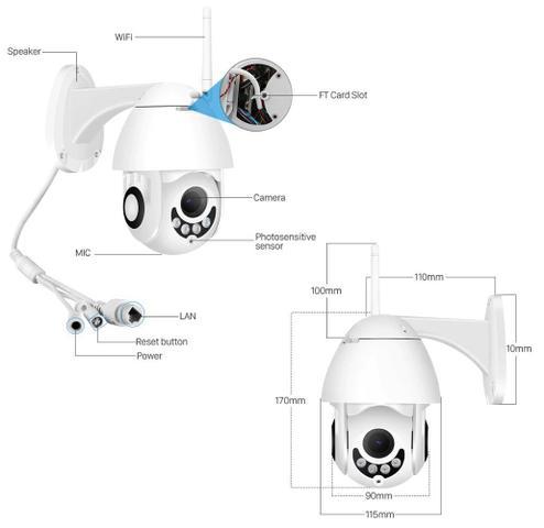 Imagem de Camera Ip Wifi Externa Ptz Speed Dome Prova De Água Zoom