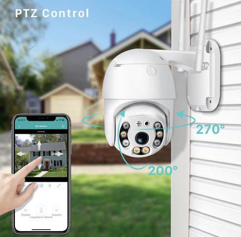 Imagem de câmera ip wifi giratoria full hd dome prova da agua infravermelha  2 antenas icsee