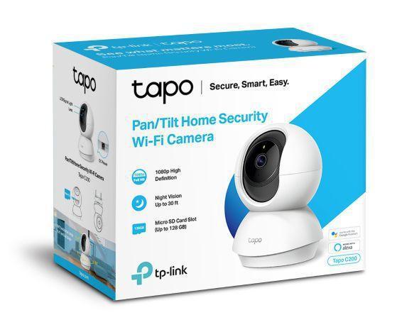 Imagem de Câmera  wifi 1080p Sd de até 128 gb bivolt automático 110V/220V Tapo Tp link C200