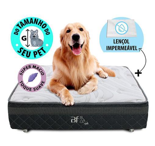 Imagem de Caminha Box Pet Para Cachorros E Gatos + Lençol Impermeável 100x100cm Bf Colchões