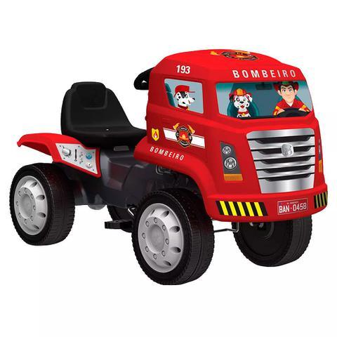 Imagem de Caminhão de Bombeiro com Pedal - Bandeirante