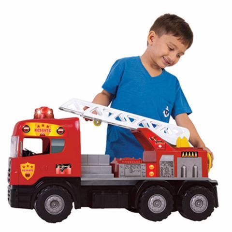 Imagem de Caminhão De Bombeiro Meninos Brinquedo Luz E Som Magic Toys