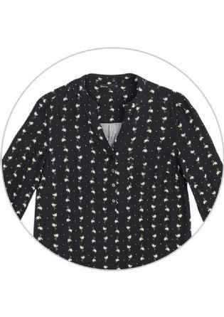 Imagem de Camisa hering feminina em tecido de viscose com estampa