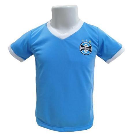 Imagem de Camisa Infantil Grêmio Gola V Azul Oficial