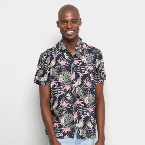 Imagem de Camisa Manga Curta Pacific Blue Floral Masculina