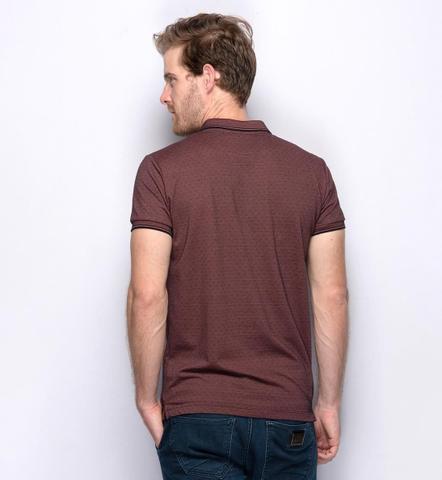 Imagem de Camisa Masculina Polo Teodoro Miniprint Ricardo Jacquard