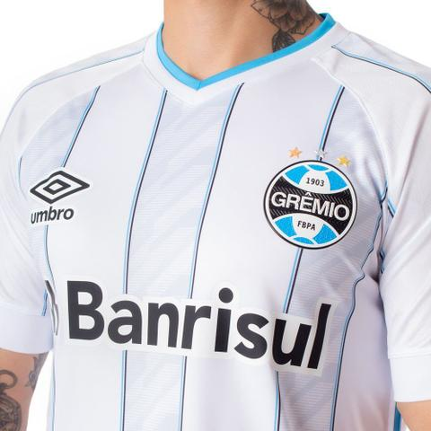 Imagem de Camisa Masculina Umbro Grêmio Oficial 2 S/N Branco/Azul